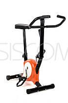 Велотренажер механический FunFit 878 Оранжевый, фото 2