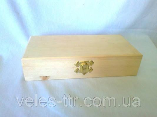 Скринька Купюрница з замочком 18х10х6 см Дерево заготівля для декору