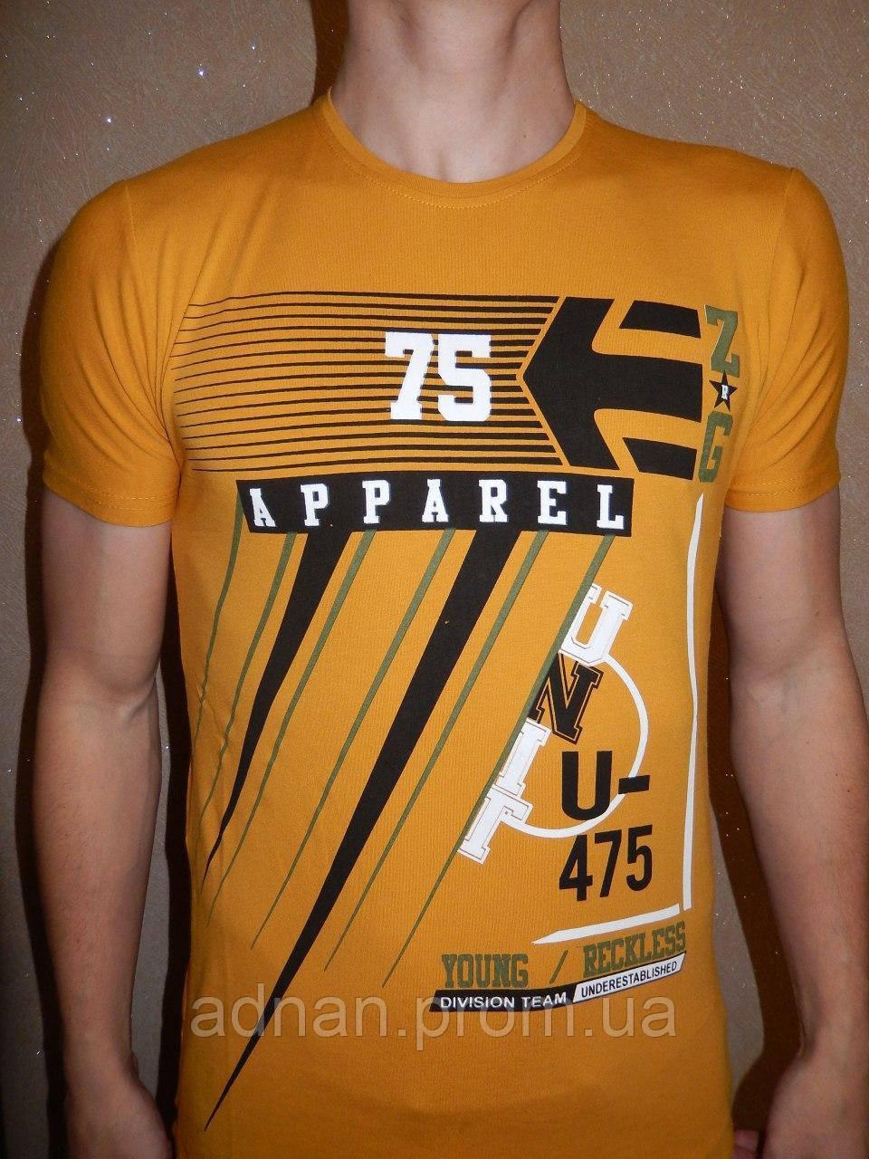 Футболка мужская RBS, накатка стрейч коттон APPAREL 003 \ купить футболку мужскую оптом