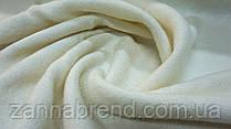 Пальтовая ткань букле молочного цвета