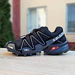 Мужские кроссовки Salomon Speedcross 3 (черно-серые) 1988, фото 4