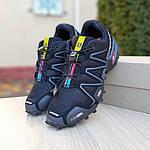 Чоловічі кросівки Salomon Speedcross 3 (чорно-сірі) 1988, фото 5