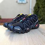 Чоловічі кросівки Salomon Speedcross 3 (чорно-сірі) 1988, фото 7