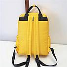 Желтый рюкзак-сумка женский однотонный в стиле Канкен Mojoyce, фото 3