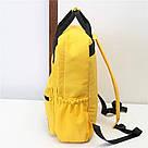 Желтый рюкзак-сумка женский однотонный в стиле Канкен Mojoyce, фото 2