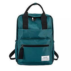 Сумка рюкзак зеленый женский однотонный из нейлона Mojoyce