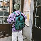 Сумка рюкзак зеленый женский однотонный из нейлона Mojoyce, фото 3