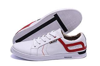 Мужские кожаные кеды в стиле T.Hilfiger Aircross White белые, фото 2