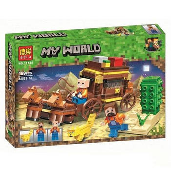 """Конструктор Bela 11134 """"Путешествие по Египту"""" (аналог Lego Майнкрафт, Minecraft), 203 детали"""