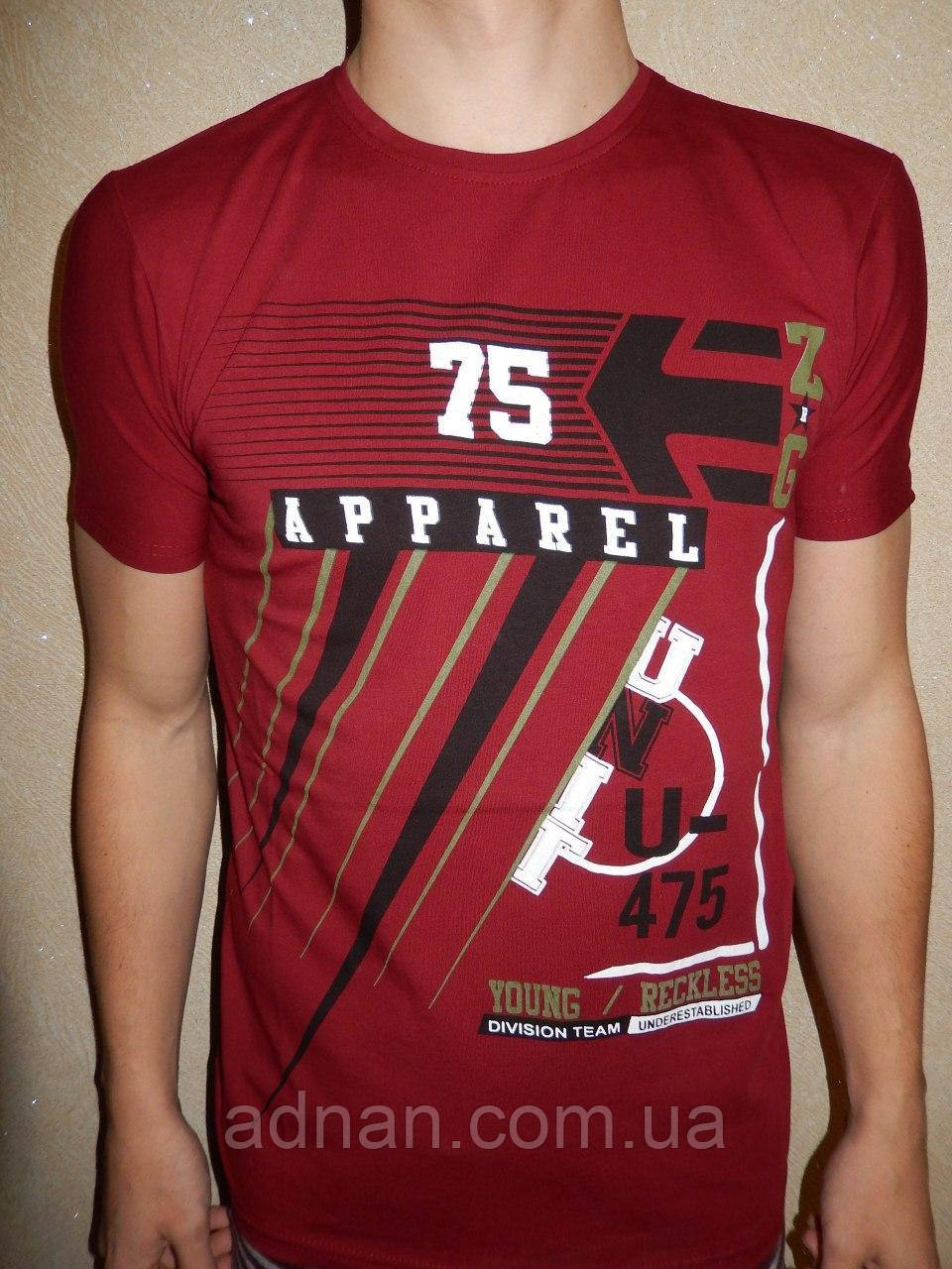 Футболка мужская RBS, накатка стрейч коттон APPAREL 005 \ купить футболку мужскую оптом