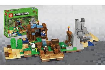 """Конструктор Minecraft Lepin 18030 """"Хижина на острове"""" (аналог Lego Майнкрафт, Minecraft), 664 детали"""