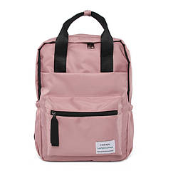 Рюкзак женский розовый однотонный из нейлона Mojoyce.