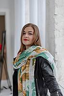 """Шарф женский """"Кувшинки"""" зеленый"""