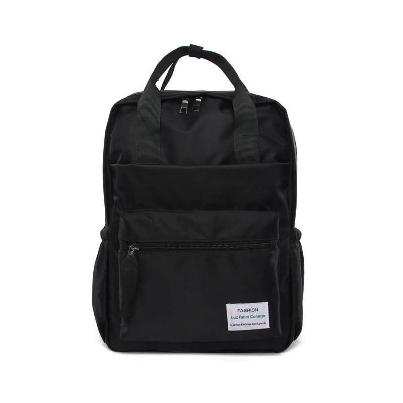 Рюкзак женский черный прямоугольный из нейлона Mojoyce.