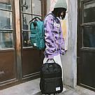 Рюкзак женский черный прямоугольный из нейлона Mojoyce., фото 3