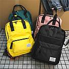 Рюкзак женский черный прямоугольный из нейлона Mojoyce., фото 2