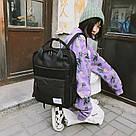 Рюкзак женский черный прямоугольный из нейлона Mojoyce., фото 4