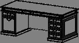 Стол руководителя Классик 22/102 L1 (2200х900х790)