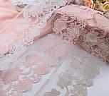 Кружево с нежным точечным узором розового цвета, ширина 13 см, фото 6