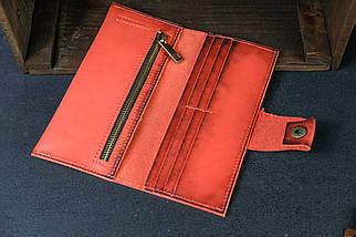 Кошелек клатч кожаный Berty 20см Кожа Итальянский краст цвет Красный, фото 3