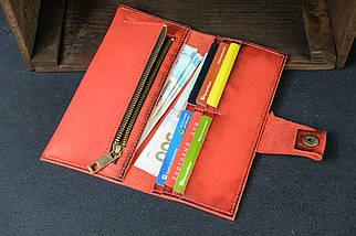 Кошелек клатч кожаный Berty 20см Кожа Итальянский краст цвет Красный, фото 2