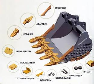 Коронки, адаптеры и зубы для погрузчиков: особенности выбора