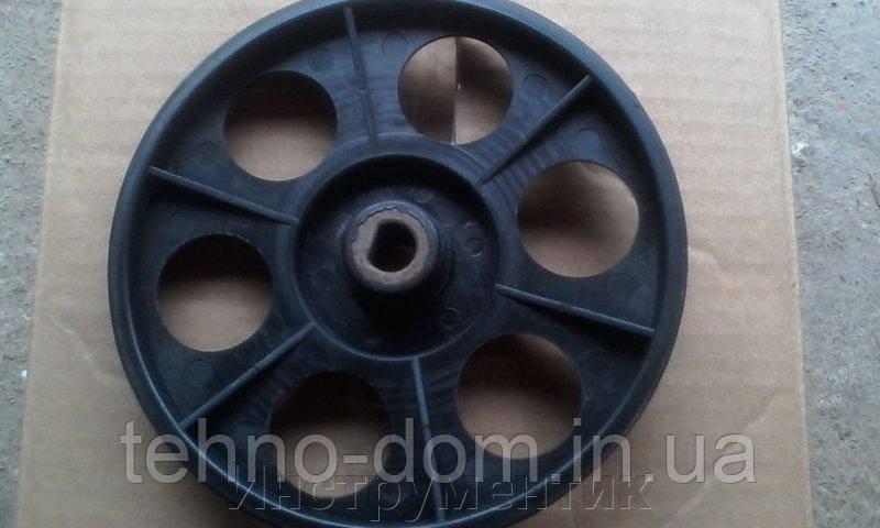 Шкив бетономешалки (D=155 мм, d=17 мм, гладкий, втул. метал 30мм)