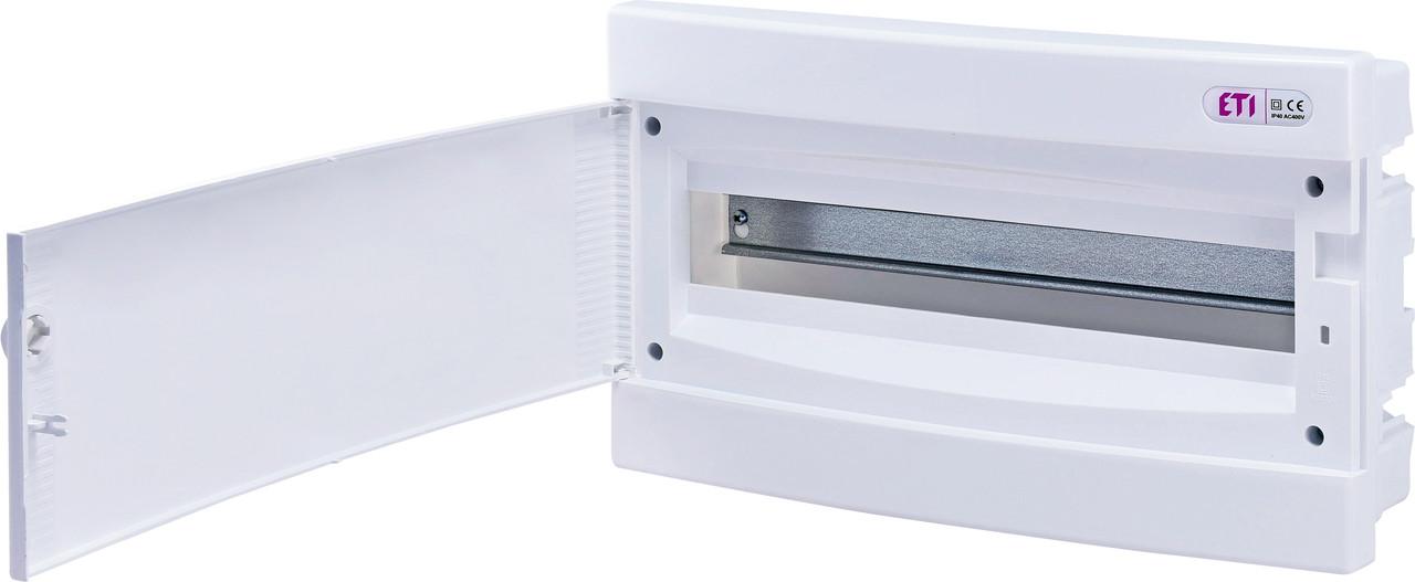 Модульный щиток, 18 модулей, 1 ряд, IP40, ECM-18PO, белая дверца, 1101019