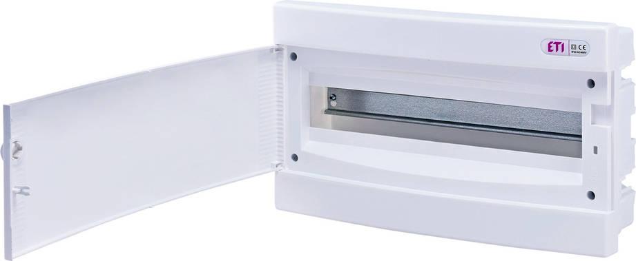 Модульный щиток, 18 модулей, 1 ряд, IP40, ECM-18PO, белая дверца, 1101019, фото 2