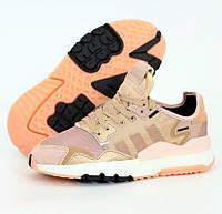 Женские кроссовки Adidas Nite Jogger Pink. Живое фото (Реплика ААА+)