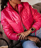 Женская демисезонная короткая куртка (5расцв) 42-46р., фото 4