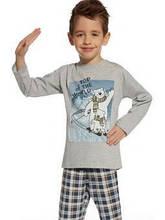 Детская пижама для мальчика CORNETTE Польша TOP OF THE WORLD, серая,