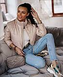 Женская демисезонная короткая куртка (5расцв) 42-46р., фото 7