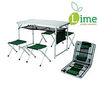 Раскладной стол с 4-мя табуретами TA21407+FS21124