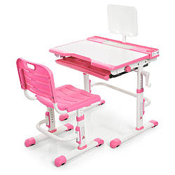 Парта + стул трансформеры Bambi M 3111(2)-8 Розовый