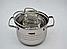 Набор посуды   Кастрюли   Набор посуды из нержавеющей стали Benson BN-203 10 предметов, фото 3