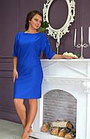 Молодежное платье прямого кроя яркого цвета, фото 1