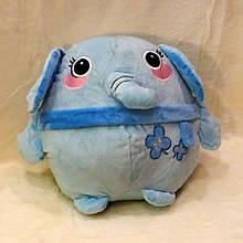Плед - м'яка іграшка 3 в 1 (Слоник блакитний)