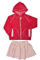 Костюм детский, для девочки байка + юбка (Малиновый)