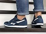 Чоловічі кросівки Reebok (темно-сині з білим) 8993, фото 4