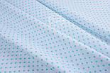 Лоскут ткани с мятным горошком 4 мм на белом фоне №1270. размер 22*80 см, фото 3