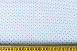 Лоскут ткани с мятным горошком 4 мм на белом фоне №1270. размер 22*80 см, фото 5