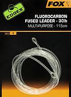 Флюорокарбоновый лідер Fox Fluorocarbon Fused Leader 30lb - 115 см