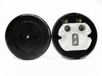 Розетка РС6-034 круглая (черная)