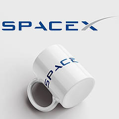 Чашка з принтом SpaceX. Чашка з фото