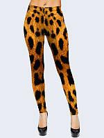 Женские лосины Леопард. Размер 40 - 50