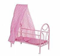 Металлическая кровать для кукол
