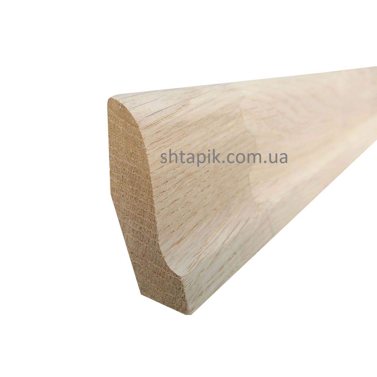 Плінтус дерев'яний 25х52х2500 мм Дуб