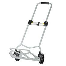 ✅ Двоколісний візок вантажна ручна складна побутова тачка (кравчучка) до 70 кг (сталева), 425*420*980,