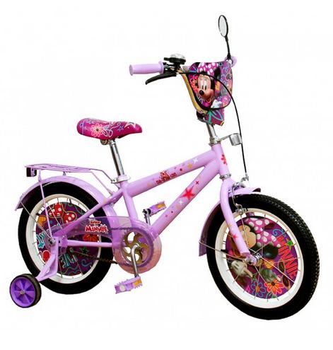 Детский двухколесный стальной велосипед.Велосипед детский на 16 дюймов. Сиреневый